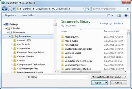 interactive word document