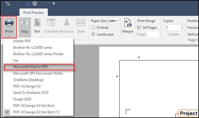 Print to PDF Print Preview